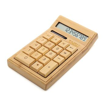 bamboo wooden calculator gift idea for engineers