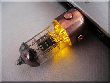 handmade vintage radio tube USB flash drive gift idea for engineers