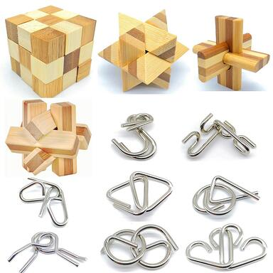 Bamboo 3D brain teaser puzzles holiday gift for engineers