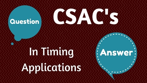 CSACs in Timing Applications