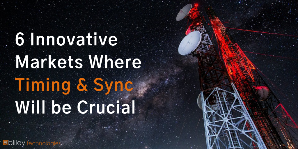 6 Innovative Markets Where Timing & Sync will be Crucial