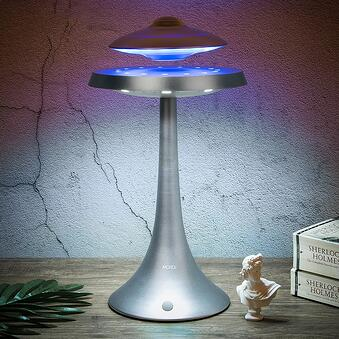 floating UFO desk lamp and bluetooth speaker gift idea