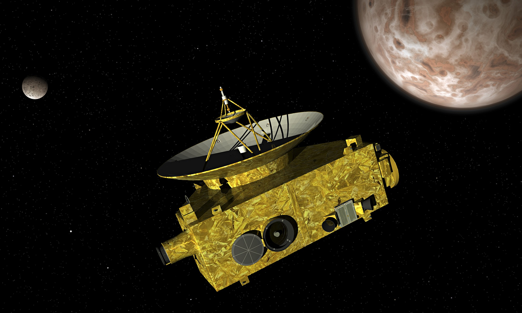 New Horizons spacecraft with ultra-stable Bliley crystals