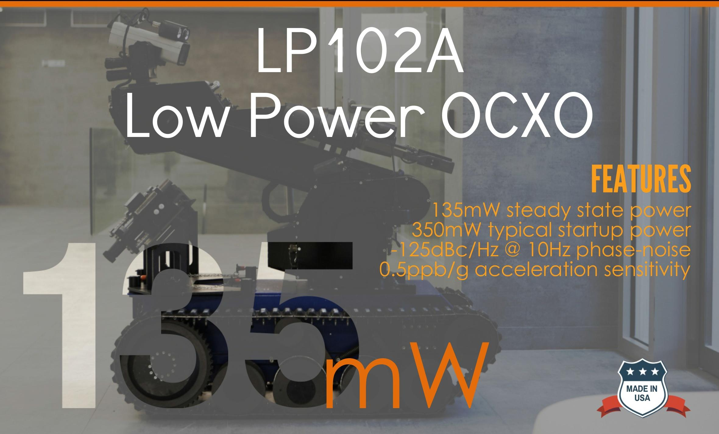 Bliley Low Power OCXO LP102 - 135mW